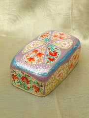 Handpainted Kashmiri Art Papier Mache Utility Box - Rectangular, Large