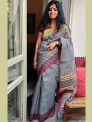 Smart & Light. Handwoven Fine Cotton Narayanpeth Andhra Saree