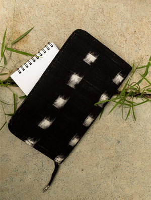 Ikat / Handloom Fabric  - Multi-Compartment Wallet Bag