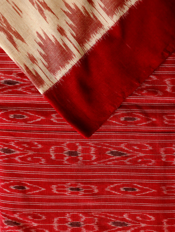 Ikat Woven Saree - The India Craft House