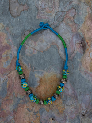 Jaipur Ceramic Beads & Metal Neckpiece