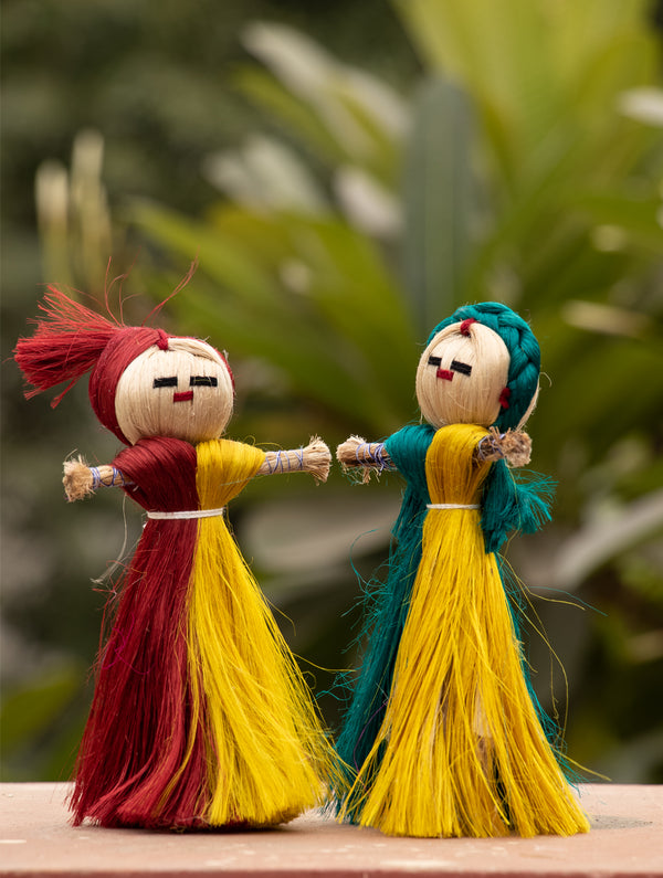 Jute Craft - Dolls (Set of 2) - The India Craft House