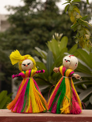 Jute Craft - Dolls (Set of 2)