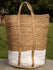 Jute & Fabric Tote Bag - Large Rectangular - The India Craft House