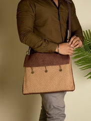 Jute Laptop Bag with Sling