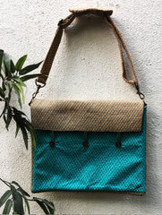 Jute & Silk Laptop Bag with Sling