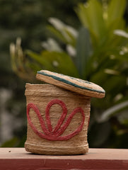 Jute Round Box with Lid