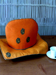 Jute & Zardozi Tray Cloth & Tea Cozy Set