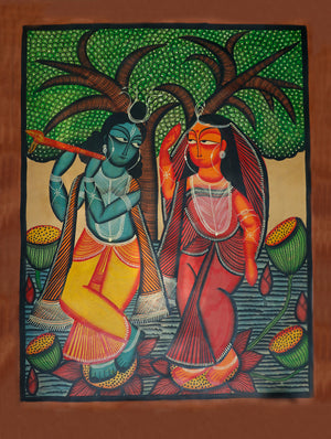 Kalighat Painting without Mount - The India Craft House