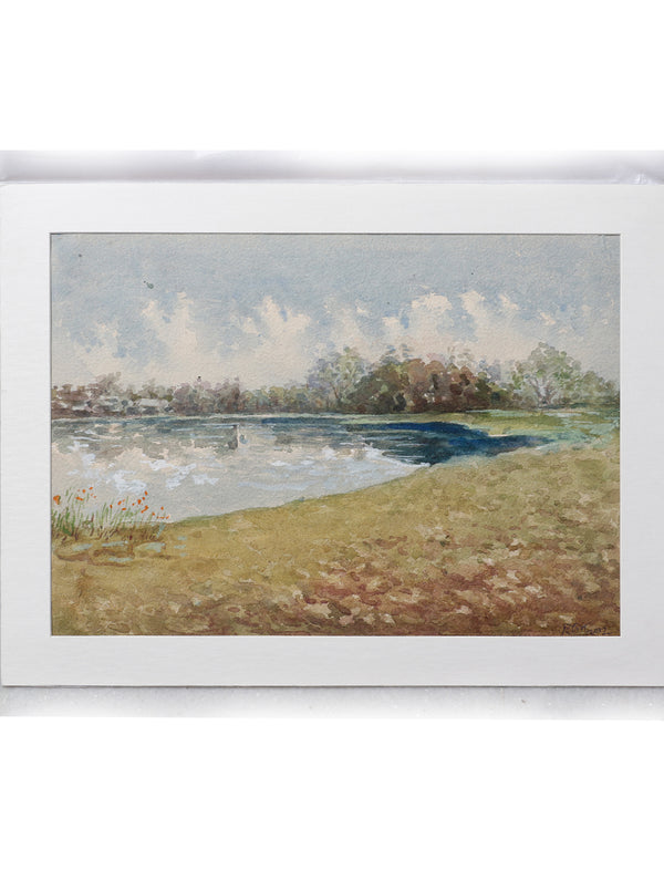 Original Kolhapur Water Colour Painting, with Mount - The India Craft House