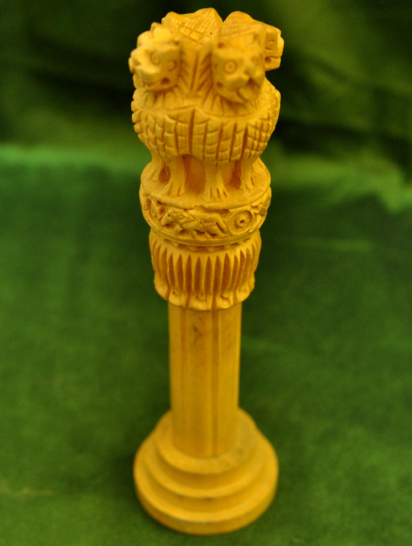 Kadam Wood Curio - Ashoka Pillar - The India Craft House