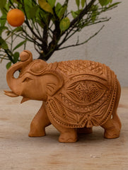 Kadam Wood Curio - Elephant, Small