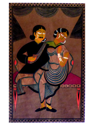 Kalighat Painting with Mount
