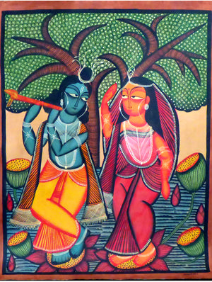 Kalighat Painting without Mount