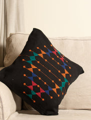 Kashida Pattu Woven Cushion Cover - Large
