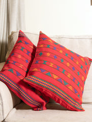 Kashida Pattu Woven Cushion Covers - Large (Set of 2)