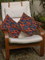 Kashmiri Aari Embroidered - Cushion Covers (Set of 2)