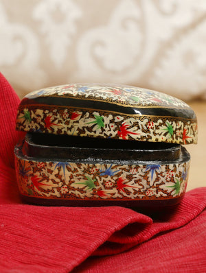 Kashmiri Art Papier Mache - Rectangular Box, Small