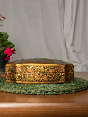 Kashmiri Art Papier Mache - Decorative Box (Octagonal)