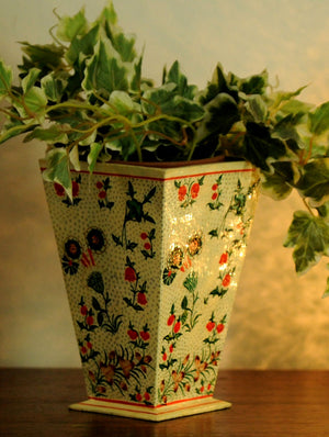 Kashmiri Art Papier Mache - Decorative Vase