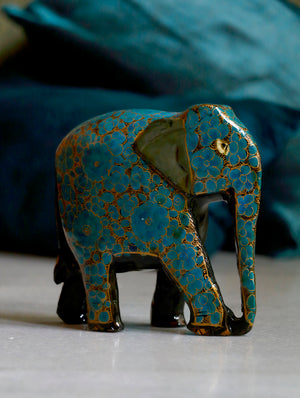Kashmiri Art Papier Mache - Elephants (Set of 3)