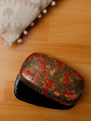 Kashmiri Art Papier Mache - Rectangle Box, Large, Multicoloured