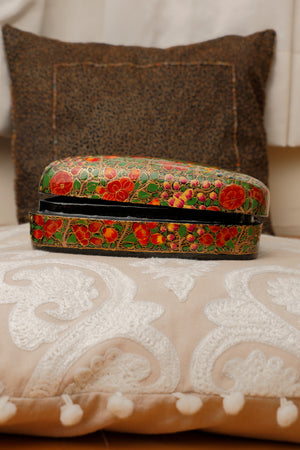 Kashmiri Art Papier Mache - Rectangle Box, Large, Multicoloured - The India Craft House