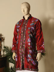 Kashmiri Embroidered Long Jacket