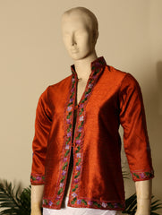 Kashmiri Embroidered Short Jacket