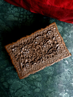 Kashmiri Walnut Wood Carved Box