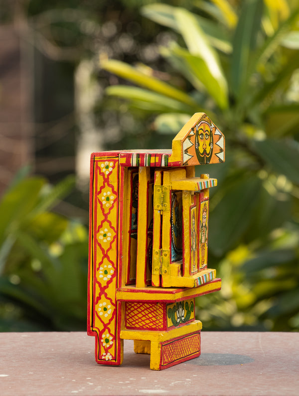 Kavad Craft Curio - Painted Wood Portable Shrine, 7