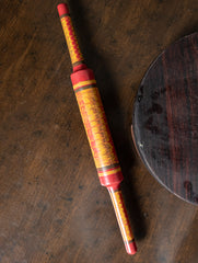 Kutch Lacquer Craft Wooden Rolling Pin (Belan)