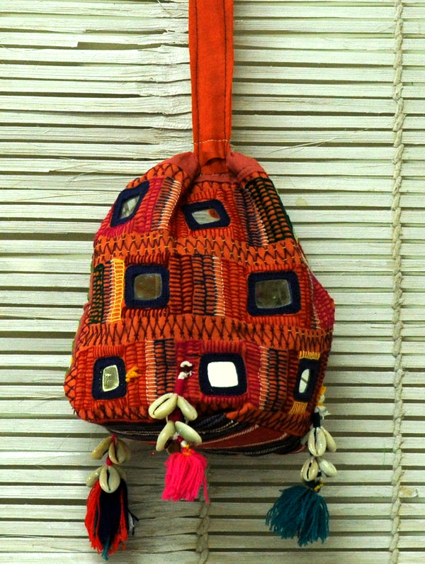 Lambani Tribal Craft - Mirrorwork Sling Bag - The India Craft House