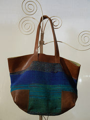 Large Rug Bag with Leather Trimmings