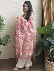 Light & Breezy Bagru Kota Dupatta - Rose Pink