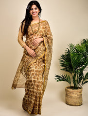 Light & Elegant Kota Zari Saree (With Blouse Piece)