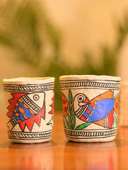Madhubani Art Papier Mache - Stationery Stands (Set of 2)