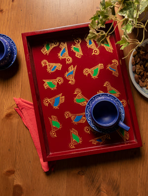 Madhubani Art - Painted Wooden Tray
