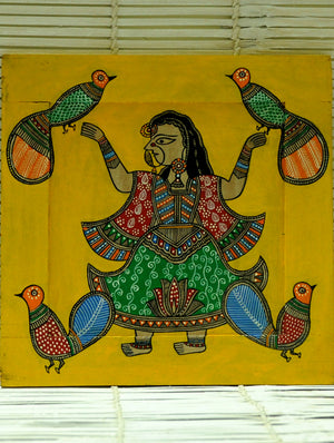 Madhubani Art - Painting on Wood, Frame