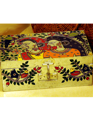 Madhubani Painted - Tin Trunk, Women,  Large