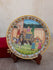 Marble Painted Decorative Plate with Stand - King on Elephant (Large). - The India Craft House