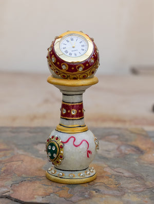 Marble Painted Pedestal Clock