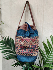 Medium Blue Jhola Bag