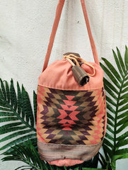 Medium Peach Jhola Bag
