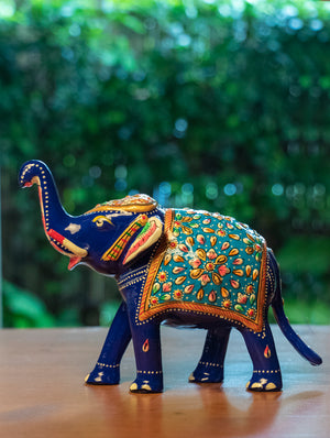 Meenakari Art Curio - Elephants, Large