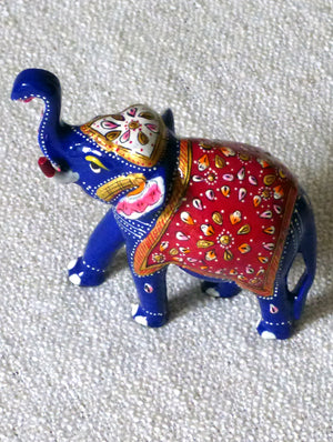 Meenakari Art Curio - Elephants, Medium
