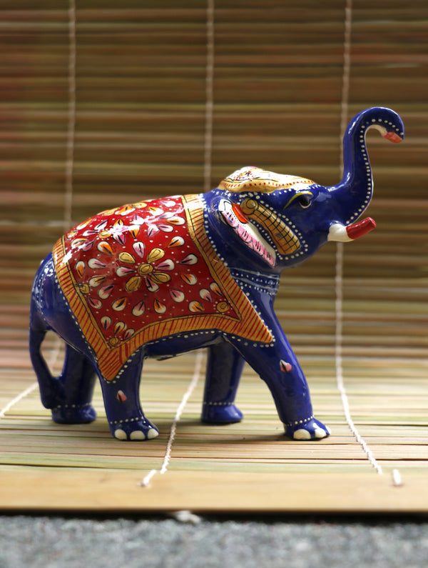 Meenakari Art Curio - Elephants, Meduim - The India Craft House