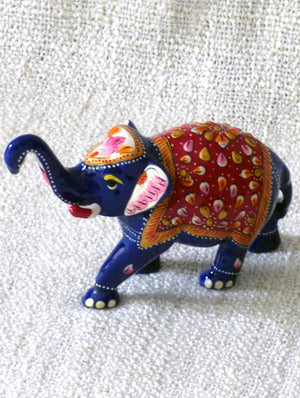 Meenakari Art Curio - Elephants, Small