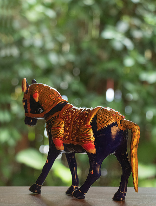 Meenakari Art Curio - Horse, Large - The India Craft House