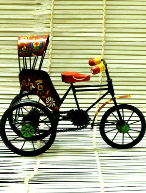 Metal Craft Curio - Cycle Rickshaw - The India Craft House